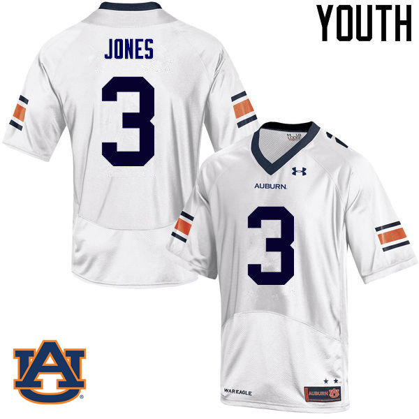Youth Auburn Tigers #3 Jonathan Jones College Football Jerseys Sale-White